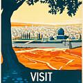 Vintage Palestine Travel Poster by George Pedro