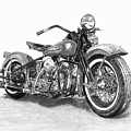 Vintage Panhead by Francois Michaud