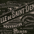 Vintage Paris Sign by Mindy Sommers