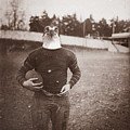 Vintage Photo Of A Seahawk Football Player by Dylan Murphy