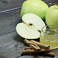 Vintage Photo Of Green Apples by Jaroslav Frank