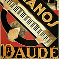 Vintage Piano Art Deco by Mindy Sommers