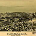 Vintage Pictorial Map Of Altoona Pa   by CartographyAssociates
