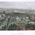 Vintage Pictorial Map Of Buffalo Ny - 1872 by CartographyAssociates