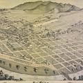 Vintage Pictorial Map Of El Paso Texas - 1886 by CartographyAssociates