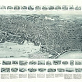 Vintage Pictorial Map Of Lynn Massachusetts - 1916 by CartographyAssociates