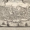 Vintage Pictorial Map Of New York City - 1672 by CartographyAssociates