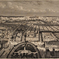 Vintage Pictorial Map Of New York City - 1840 by CartographyAssociates