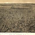 Vintage Pictorial Map Of Newark Nj - 1874 by CartographyAssociates