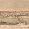 Vintage Pictorial Map Of Newport News Va - 1862 by CartographyAssociates