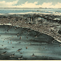 Vintage Pictorial Map Of Provincetown - 1910 by CartographyAssociates