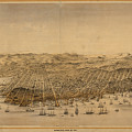 Vintage Pictorial Map Of San Francisco - 1868 by CartographyAssociates