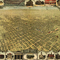Vintage Pictorial Map Of San Jose Ca - 1901 by CartographyAssociates