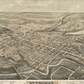 Vintage Pictorial Map Of St. Thomas Ontario - 1875  by CartographyAssociates