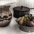 Vintage Pitcher, Pan, And Fruit Bowl by Mitch Spence