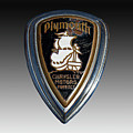 Vintage Plymouth Car Emblem by Nick Gray