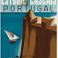 Vintage Portugal Travel Poster by George Pedro