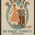 Vintage Poster Old Settlers Picnic by R Muirhead Art