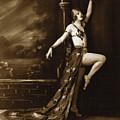 Vintage Poster Posing Dancer In Costume by R Muirhead Art