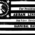 Vintage Presidential Campaign Flag Of Abraham Lincoln For President by American School