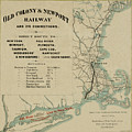 Vintage Railway Map 1865 by Andrew Fare
