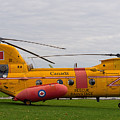Vintage Transport And Rescue Helicopter - Boeing Vertol Ch113 by Les Palenik