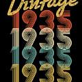 Vintage Retro Since 1935 Birthday Gift by Eriel Ocon