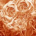 Vintage Rose Petals Abstract  by Irina Sztukowski