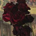 Vintage Roses In Vintage Paris by Natalie Ortiz