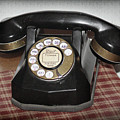 Vintage Rotary Phone by Karen Adams