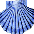 Vintage Scallop Shell Blue by Joy McKenzie