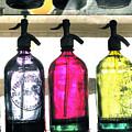 Vintage Seltzer Bottles 2 by Susan  Lipschutz