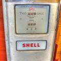 Vintage Shell Gas Pump by Linda Covino