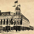 Vintage Shibe Park In Sepia by Bill Cannon
