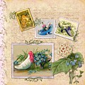 Vintage Shoes And Flowers by Joy of Life Art Gallery