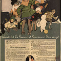 Sweaters Sportcoats And Stockings Vintage Soap Ad 1917 Winter by Anne Kitzman