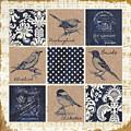 Vintage Songbird Patch 2 by Debbie DeWitt