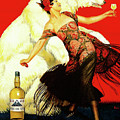 Vintage Spanish Liquor Ad, Flamenco Dancer, Polar Bear by Tina Lavoie