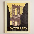 Vintage-style New York City Poster by MotionAge Designs