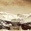 Vintage Style Post Card From Loveland Pass by Juli Scalzi