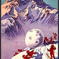Vintage Swiss Travel Poster by Pd