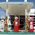 Vintage Texaco Station by Lee M Plate