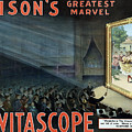 Vintage Thomas Edison Print - The Vitascope by War Is Hell Store