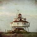 Vintage Thomas Point Shoal Lighthouse by Carol Ward