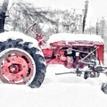 Vintage Tractor Christmas by Edward Fielding