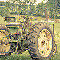 Vintage Tractor Keene New Hampshire by Edward Fielding
