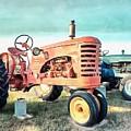 Vintage Tractors Acrylic by Edward Fielding