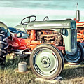 Vintage Tractors Pei Square by Edward Fielding