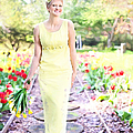 Vintage Val In Tulips by Jill Wellington