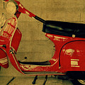 Vintage Vespa Scooter Red by Design Turnpike